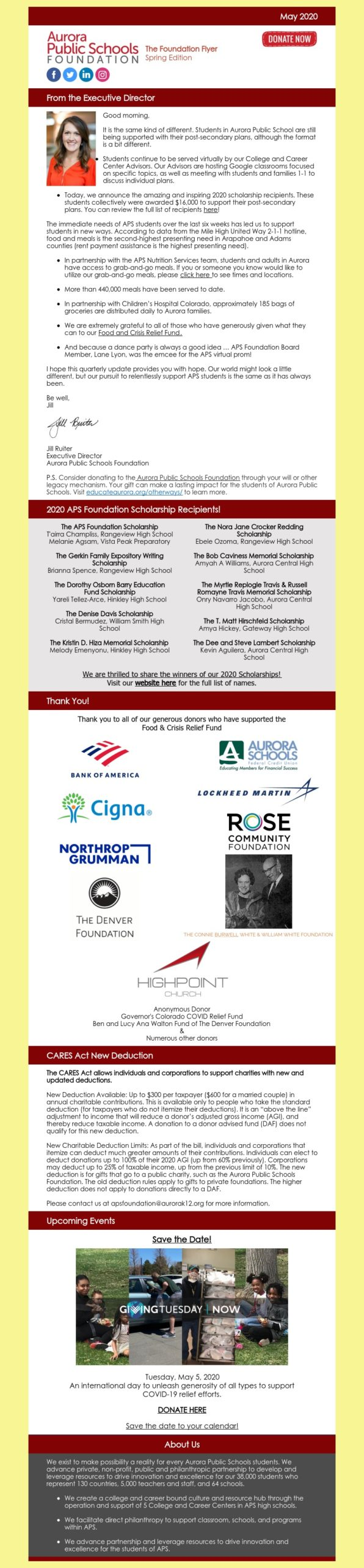 May Foundation Flyer